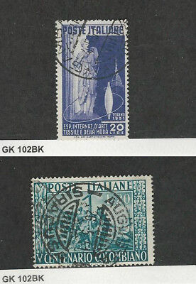 Italy, Postage Stamp, #577-578 Used, 1951