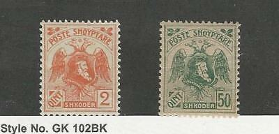Albania, Postage Stamp, #129, 133a (Without Overprint) Mint NH, 1920