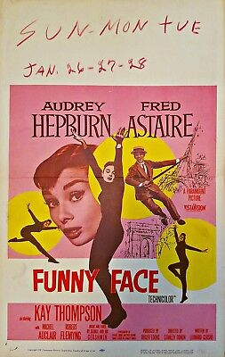 Funny Face (1957) Audrey Hepburn & Fred Astaire Classic * Orig 14X22 Poster !