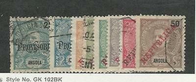 Angola, Postage Stamp, #84-85, 89-94 Used, 1902-11 Portugal Colony