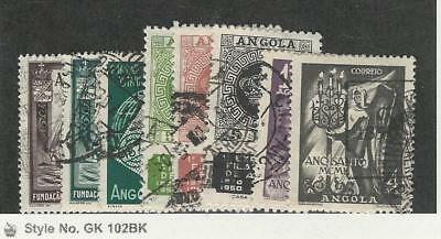 Angola, Postage Stamp, #325-332 Used, 1949-50, Portugal Colony