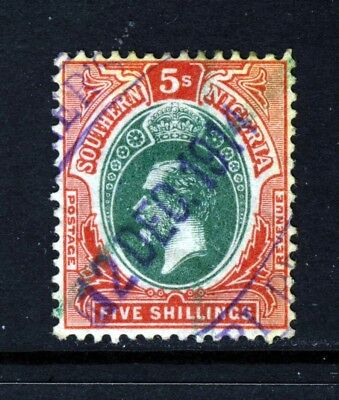 SOUTHERN NIGERIA King George V 1912 5s. Green & Red/Yellow SG 54 VFU
