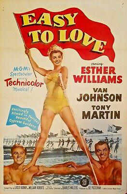 Easy To Love (1953) Beautiful Sexy Esther Williams Mgm Orig 1-Sheet Poster!