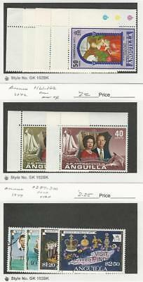 Anguilla, British, Postage Stamp, #132-5, 161-2 Mint NH, 297-300 Used, 1971-77