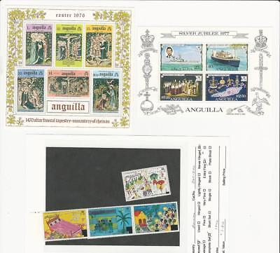 Anguilla, British, Postage Stamp, #258a, 274a, 265-270 Mint NH Set & Sheets