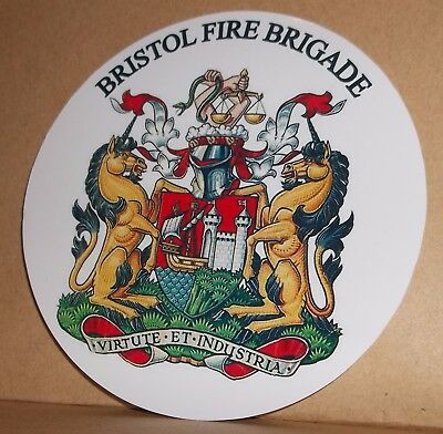Fire and Rescue Service Cleveland Fire Brigade vinyl sticker personalised..
