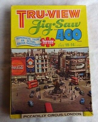 Vintage Jigsaw Puzzle 400 Piece - Piccadilly Circus , London