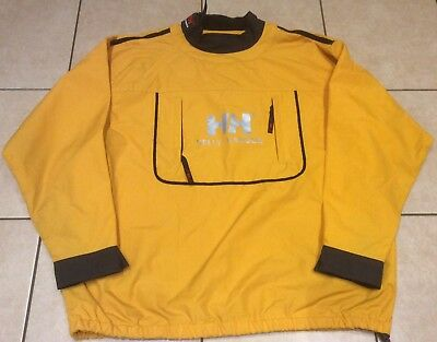 Helly Hansen Yellow Sailing Smock/overhead Jacket - Size L