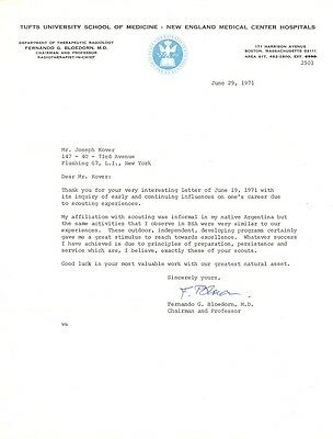 DR. FERNANDO G. BLOEDORN Signed Letter - Radiation Therapy Specialist