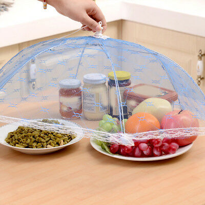 Umbrella Style Hexagon Kitchen Cooking Tools Gauze Tulle Lace Table Food Covers