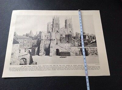 On Great North Road,bootham Bar,one Of City Gates In York,s Wall, Illustration