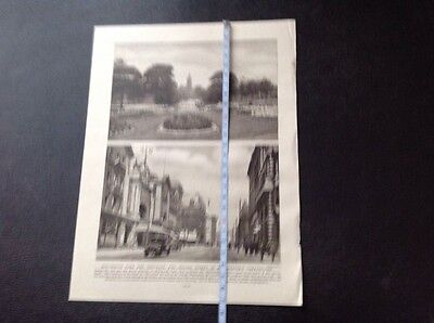 Oxford Street, Manchester, & Whitworth Park And Institute,vintage Illustration