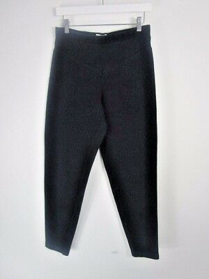 Vintage Marion Foale Charcoal Black Slim Fit Trousers UK Size 12-14