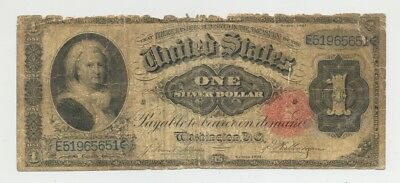 $1 Series 1891 Silver Certificate, nice average circulated condition; no reserve