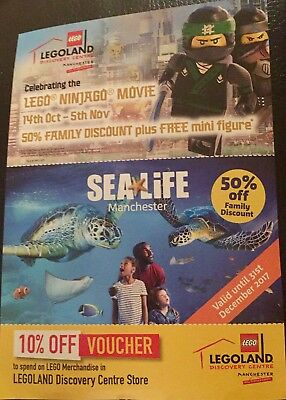 Manchester Legoland Discovery Trafford Centre 50% off family discount + Sealife