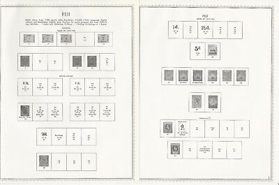 Fiji Collection 1870-1984 Minkus Specialty Pages, 35 Pages