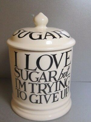 Emma Bridgewater Black Toast & Marmalade Pottery SUGAR Lidded Jar