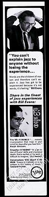 1966 Bill Evans photo Verve Records vintage print ad