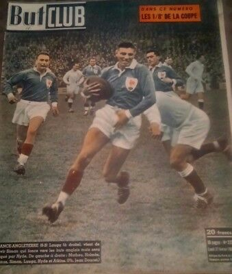 But & Club  16 pages 1950. Rugby (France-Angleterre) Football 1/8é de la coupe