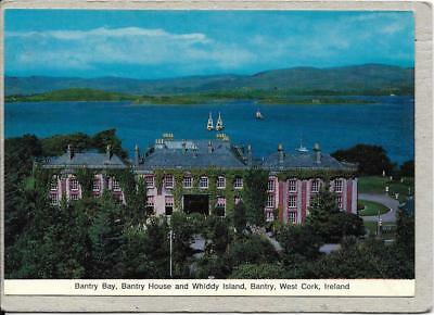 BANTRY HOUSE and Whiddy Island, Bantry Bay Co Cork,  postcard.