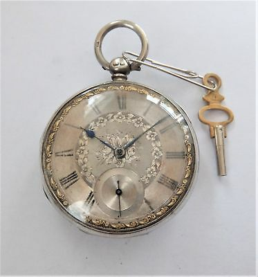 1859 Silver Cased Fusee Pocket Watch In Working Order