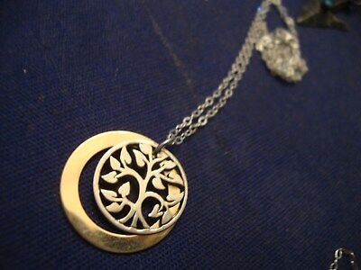 Grandmas Estate Beautiful  Western Sterling Silver Tree Of Life Necklace