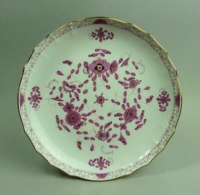 Fine Meissen Purple Pink Indian Patt. Porcelain Fluted Dish