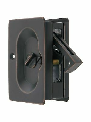 Emtek Pocket Door Privacy Lock Set Oil-Rubbed Bronze