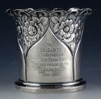 Deakin & Sons Sheffield Repousse Sterling Silver Red Cross Presentation Cup 1900