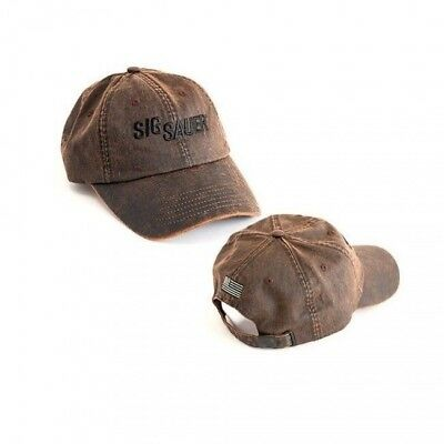 Sig Sauer Oil Cloth Cap Brown, Adjustableh Hat with Embroidery SIG8300228
