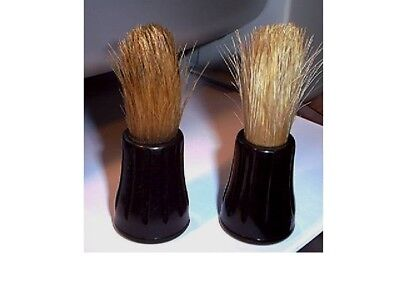 2 Vintage Rubberset Shaving Brushes-2 Different Colors of Natural Bristles