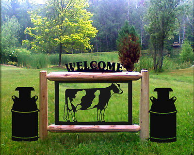 Holstein Cows - Milkcans - Dairy Farms And Ranch Signs
