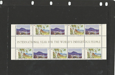 Mint 1993 Australia Day Pictured Gutter Block Of 10 Muh