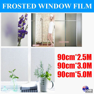 Sand Blast Clear Privacy Frosted Frosting Removable Window Glass Film 2.5M 3M 5M