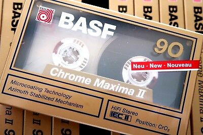 Basf Chrome Maxima Ii 90 High Bias Iecii/type Ii Blank Audio Cassette Tape 1989