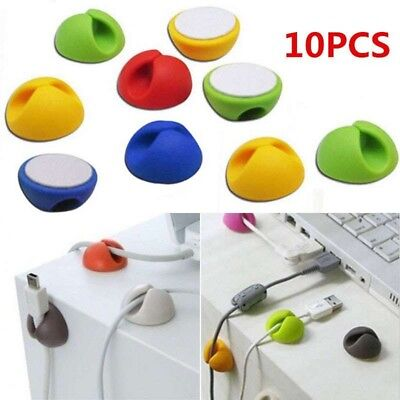 10PCS USB Cable Organizer Charger Cord Holder Sort Out Random Color Electric