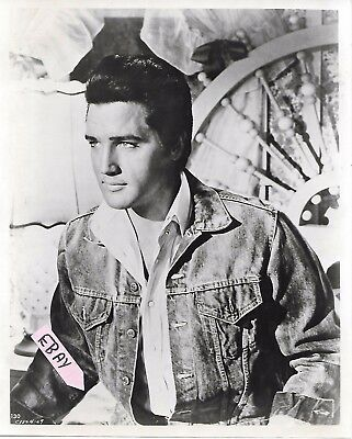 Vintage Elvis Candid Photo On Movie Set 8X10 Original 1960's Lot # 110