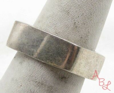 Sterling Silver Vintage 925 Heavy Squared Wide Ring Sz 7 (9.1g) - 575692