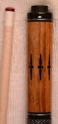 Dale Perry Custom Pool Cue 1/1   Curly Maple/ Nigerian Rosewood Stage IV Upgrade