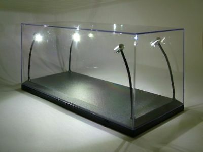 klarsichtbox (Display Cabinet) with LED Lighting for 1:18 Model Cars, 4 Lamps