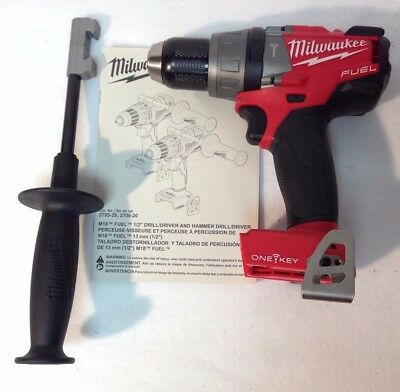 """MILWAUKEE 2706-20 NEW M18 BRUSHLESS 1/2"""" Hammer Drill/Driver ONE-KEY Tool Only"""