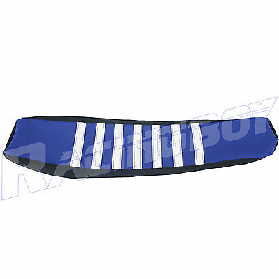 MX Dirt Pit Bike Blue Ribbed Seat Cover for Yamaha WR250F WR450F 2007-2016