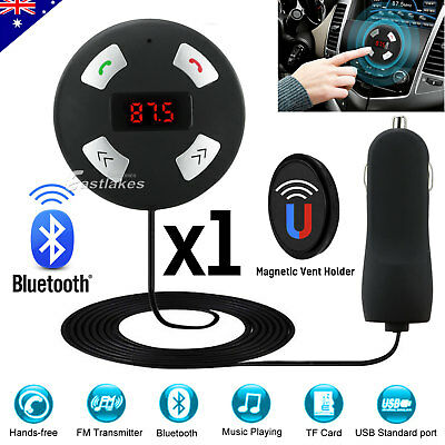 Bluetooth Magnetic FM Transmitter Car MP3 Player Handsfree Kit USB Charger SD AU