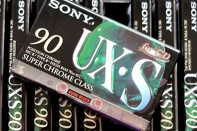 Sony Ux-S 90 Super Chrome Class High Bias Type Ii Blank Audio Cassette - 1995