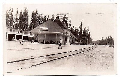 Westwood,california,lassen County,southern Pacific Railroad Depot,rppc,pm 1929