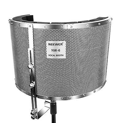 Neewer Microphone Isolation Shield Absorber Filter with Aluminum Panel