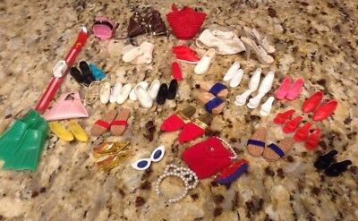 Barbie & friends vintage accessories lot some Misc doll Items 1960's N/R