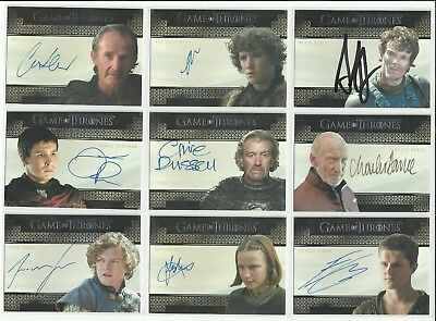 Rittenhouse Game Of Thrones Valyrian Steel Auto Autograph Card - YOU PICK