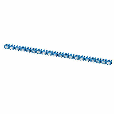"""20Pcs Letters """"M"""" Network Cable Labels Markers Blue for 4.0-6.0mm Dia Wire"""