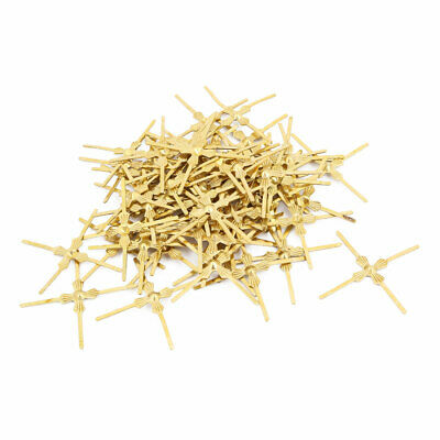 120Pcs Gold Tone Chandelier Connector Cross Clip for Fastening Crystal